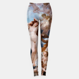 Thumbnail image of The Birth Of Venus by William-Adolphe Bouguereau Leggings, Live Heroes