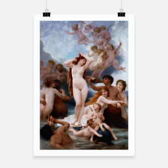 Thumbnail image of The Birth Of Venus by William-Adolphe Bouguereau Poster, Live Heroes