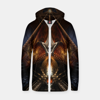 Thumbnail image of Arteknyia Fantasy Fractal Art Composition Zip up hoodie, Live Heroes