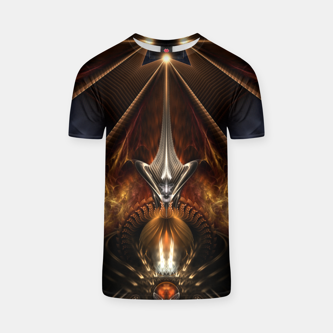 Image of Arteknyia Fantasy Fractal Art Composition T-shirt - Live Heroes