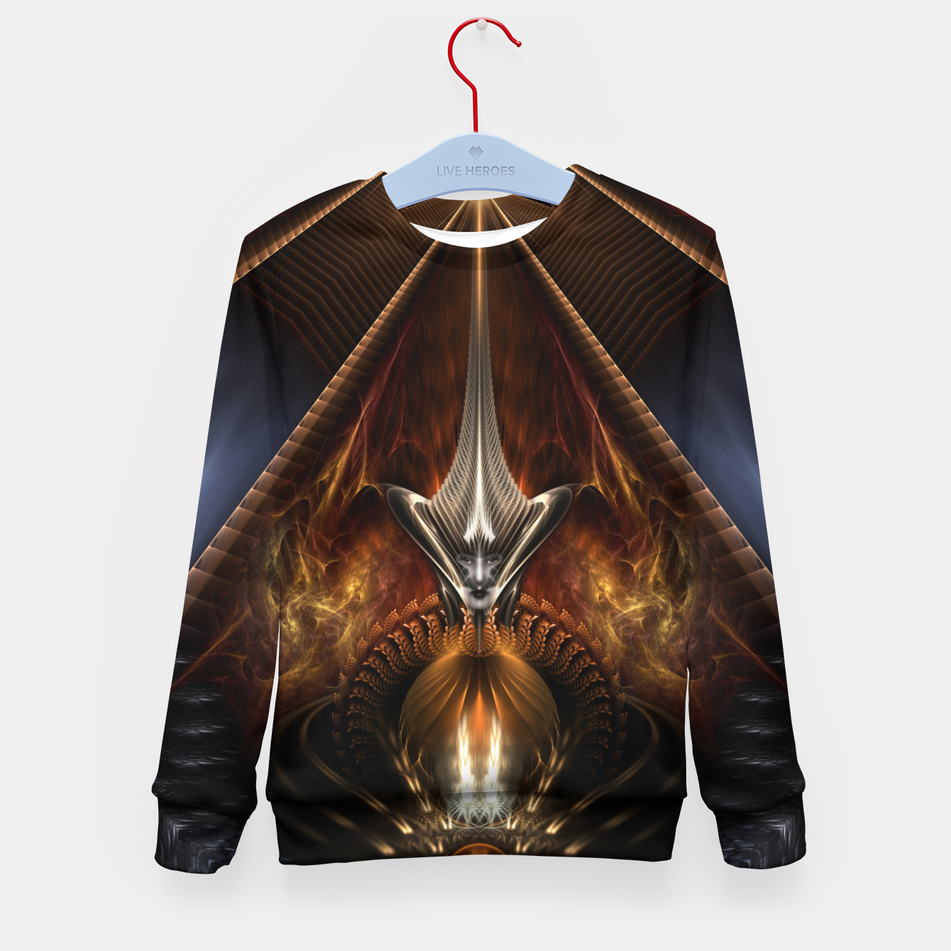 Image of Arteknyia Fantasy Fractal Art Composition Kid's sweater - Live Heroes