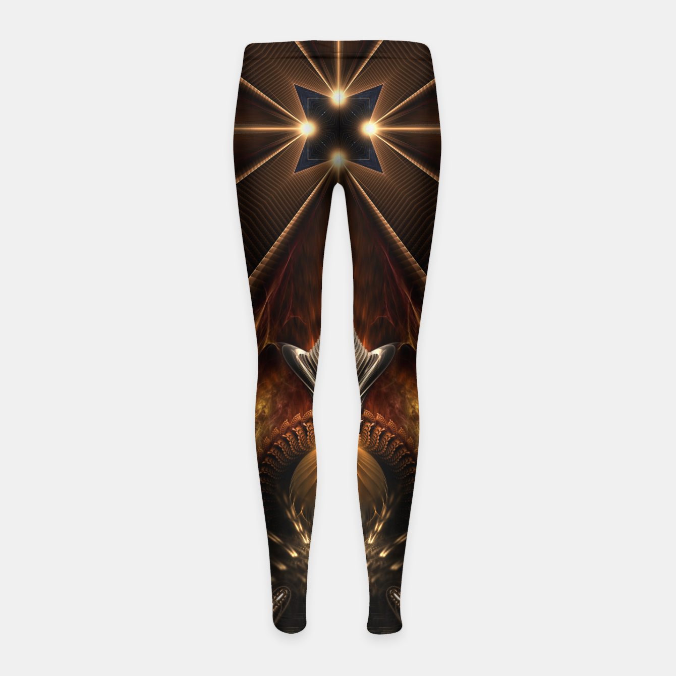 Image of Arteknyia Fantasy Fractal Art Composition Girl's leggings - Live Heroes