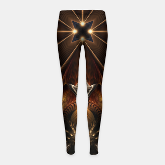 Arteknyia Fantasy Fractal Art Composition Girl's leggings thumbnail image