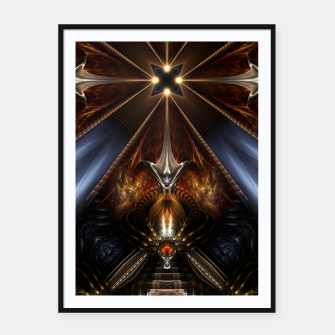Thumbnail image of Arteknyia Fantasy Fractal Art Composition Framed poster, Live Heroes