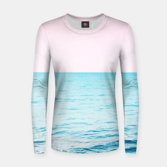 Thumbnail image of Blissful Ocean Dream #1 #wall #decor #art Frauen sweatshirt, Live Heroes