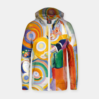 Miniatur Fashion items of Robert Delaunay painting - Portuguese Woman (Mulher Portuguesa) Zip up hoodie, Live Heroes