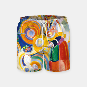 Miniatur Fashion items of Robert Delaunay painting - Portuguese Woman (Mulher Portuguesa) Swim Shorts, Live Heroes