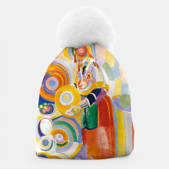 Miniatur Fashion items of Robert Delaunay painting - Portuguese Woman (Mulher Portuguesa) Beanie, Live Heroes