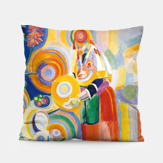 Miniatur Fashion items of Robert Delaunay painting - Portuguese Woman (Mulher Portuguesa) Pillow, Live Heroes