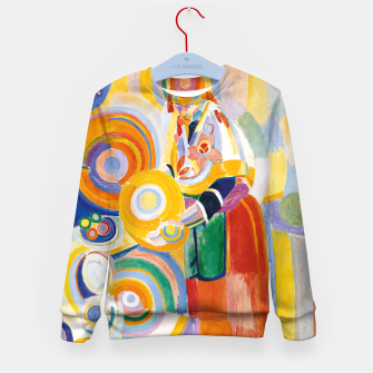 Miniatur Fashion items of Robert Delaunay painting - Portuguese Woman (Mulher Portuguesa) Kid's sweater, Live Heroes