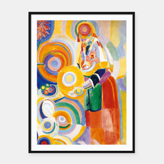 Miniatur Fashion items of Robert Delaunay painting - Portuguese Woman (Mulher Portuguesa) Framed poster, Live Heroes