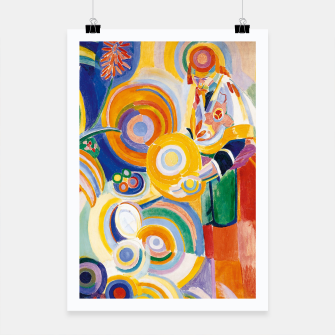 Miniatur Fashion items of Robert Delaunay painting - Portuguese Woman (Mulher Portuguesa) Poster, Live Heroes