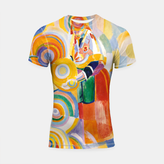 Miniatur Fashion items of Robert Delaunay painting - Portuguese Woman (Mulher Portuguesa) Shortsleeve rashguard, Live Heroes