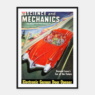 Thumbnail image of Fashion items made of Science and Mechanics cover Car of the Future Framed poster, Live Heroes