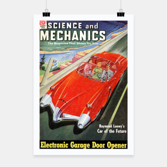 Thumbnail image of Fashion items made of Science and Mechanics cover Car of the Future Poster, Live Heroes