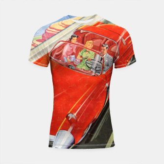 Thumbnail image of Fashion items made of Science and Mechanics cover Car of the Future Shortsleeve rashguard, Live Heroes