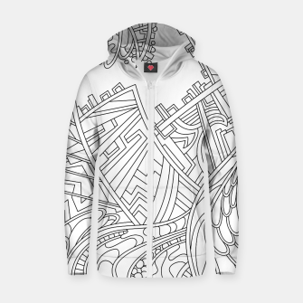 Miniature de image de Wandering 01: black & white line art Zip up hoodie, Live Heroes