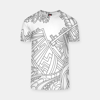Thumbnail image of Wandering 01: black & white line art T-shirt, Live Heroes