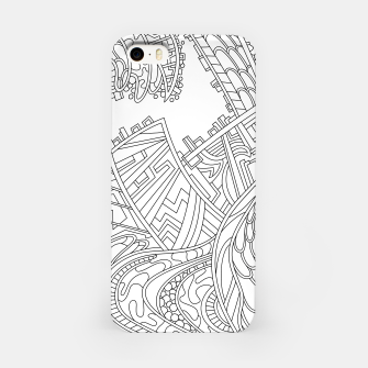 Miniature de image de Wandering 01: black & white line art iPhone Case, Live Heroes