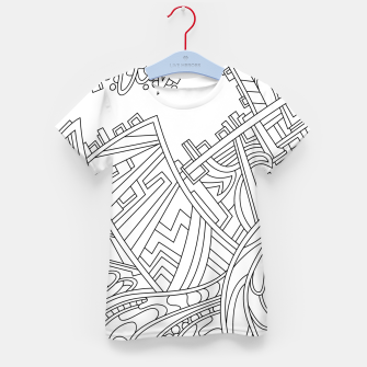 Thumbnail image of Wandering 01: black & white line art Kid's t-shirt, Live Heroes