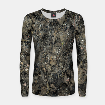 Thumbnail image of Grunge Organic Texture Print Women sweater, Live Heroes