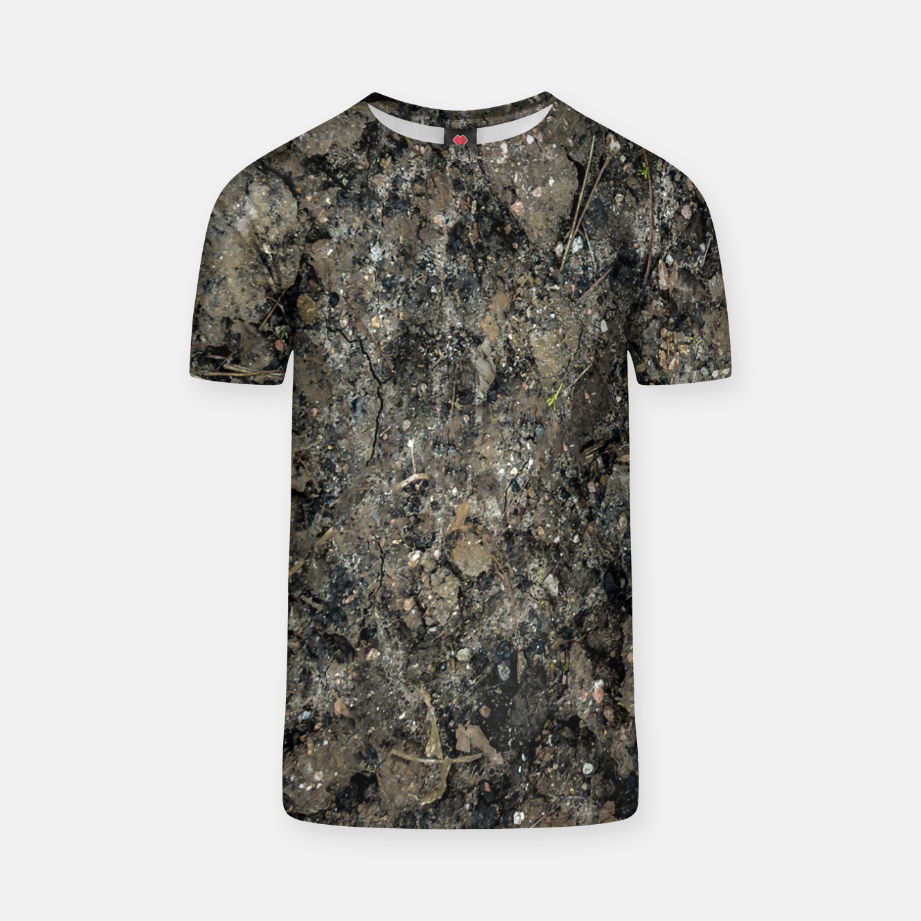 Image of Grunge Organic Texture Print T-shirt - Live Heroes