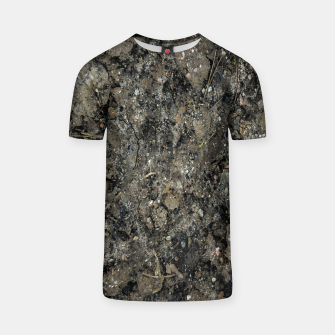 Thumbnail image of Grunge Organic Texture Print T-shirt, Live Heroes