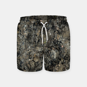 Thumbnail image of Grunge Organic Texture Print Swim Shorts, Live Heroes
