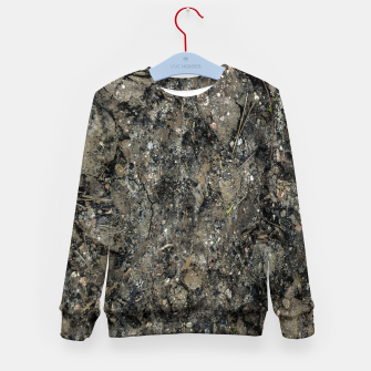 Thumbnail image of Grunge Organic Texture Print Kid's sweater, Live Heroes