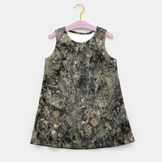 Grunge Organic Texture Print Girl's summer dress thumbnail image
