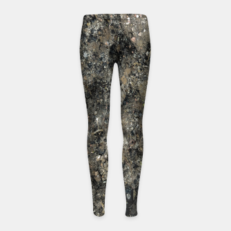 Thumbnail image of Grunge Organic Texture Print Girl's leggings, Live Heroes