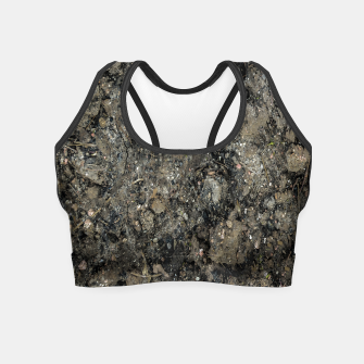 Thumbnail image of Grunge Organic Texture Print Crop Top, Live Heroes