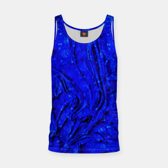 Miniaturka Indigo Antique Blue Moroccan Glowing Brushes  Tank Top, Live Heroes