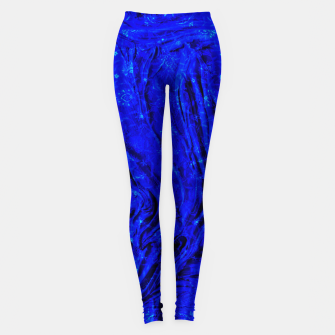 Miniaturka Indigo Antique Blue Moroccan Glowing Brushes  Leggings, Live Heroes