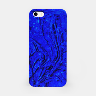 Thumbnail image of Indigo Antique Blue Moroccan Glowing Brushes  iPhone Case, Live Heroes