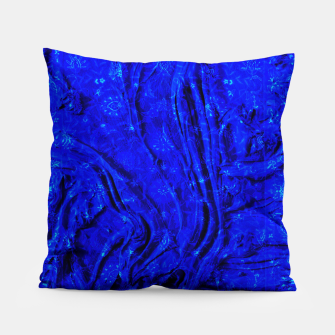 Thumbnail image of Indigo Antique Blue Moroccan Glowing Brushes  Pillow, Live Heroes