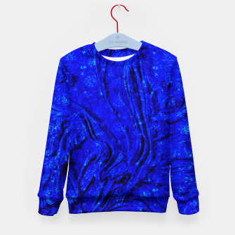 Thumbnail image of Indigo Antique Blue Moroccan Glowing Brushes  Kid's sweater, Live Heroes