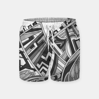 Thumbnail image of Wandering 01: grayscale Swim Shorts, Live Heroes