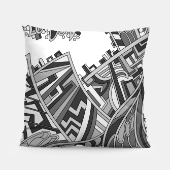 Thumbnail image of Wandering 01: grayscale Pillow, Live Heroes