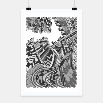 Miniatur Wandering 01: grayscale Poster, Live Heroes