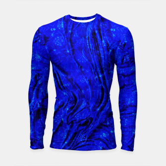 Thumbnail image of Indigo Antique Blue Moroccan Glowing Brushes  Longsleeve rashguard , Live Heroes