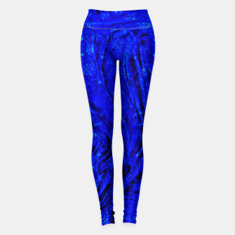 Thumbnail image of Indigo Antique Blue Moroccan Glowing Brushes  Leggings, Live Heroes