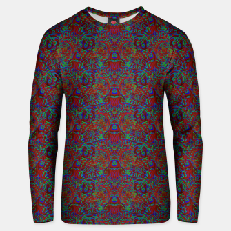 Thumbnail image of Burnt burgandy portal pattern  Unisex sweater, Live Heroes