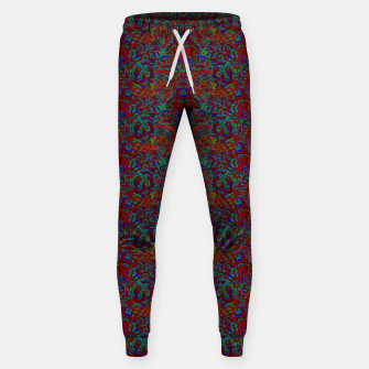 Thumbnail image of Burnt burgandy portal pattern  Sweatpants, Live Heroes