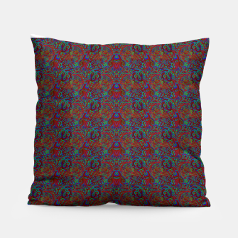 Thumbnail image of Burnt burgandy portal pattern  Pillow, Live Heroes