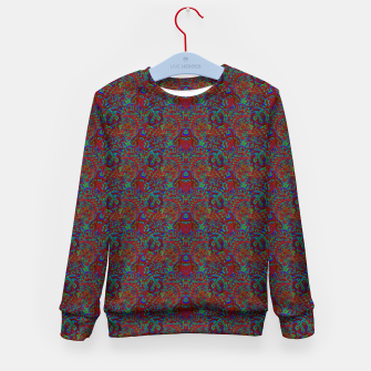 Thumbnail image of Burnt burgandy portal pattern  Kid's sweater, Live Heroes