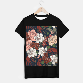 Thumbnail image of Dark floral vintage Camiseta Regular, Live Heroes