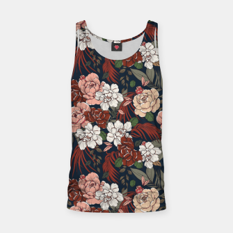 Thumbnail image of Dark floral vintage Camiseta de tirantes, Live Heroes