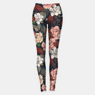 Thumbnail image of Dark floral vintage Leggings, Live Heroes