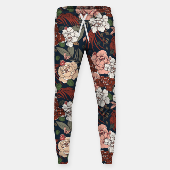 Thumbnail image of Dark floral vintage Pantalones de chándal , Live Heroes